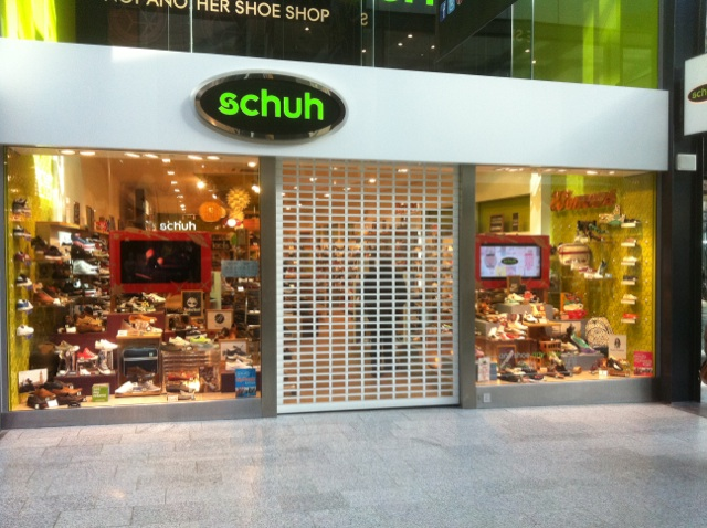 Punched Aluminium Roller Shutters for Schuh
