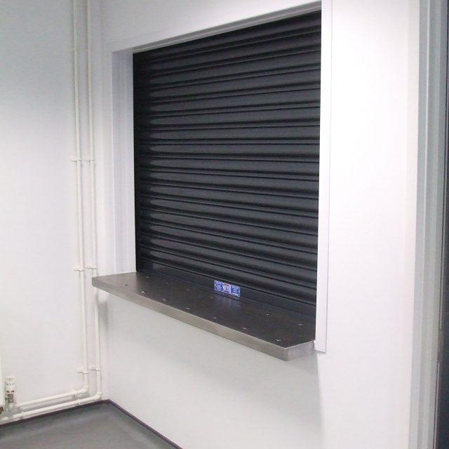 Black fire shutter