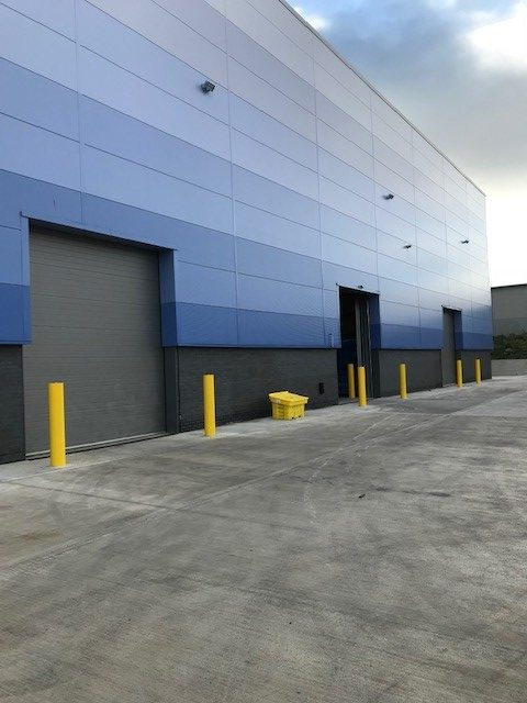 Sectional Overhead Doors for a warehouse