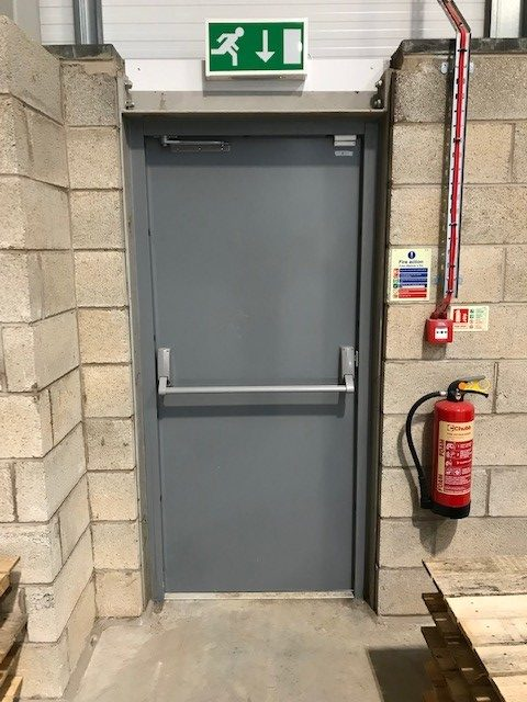 Steel Fire Exit Door Inside