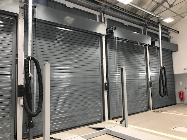 Industrial insulated roller shutters